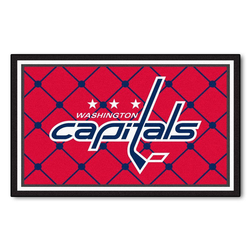 Washington Capitals 4 ft. x 6 ft. Area Rug