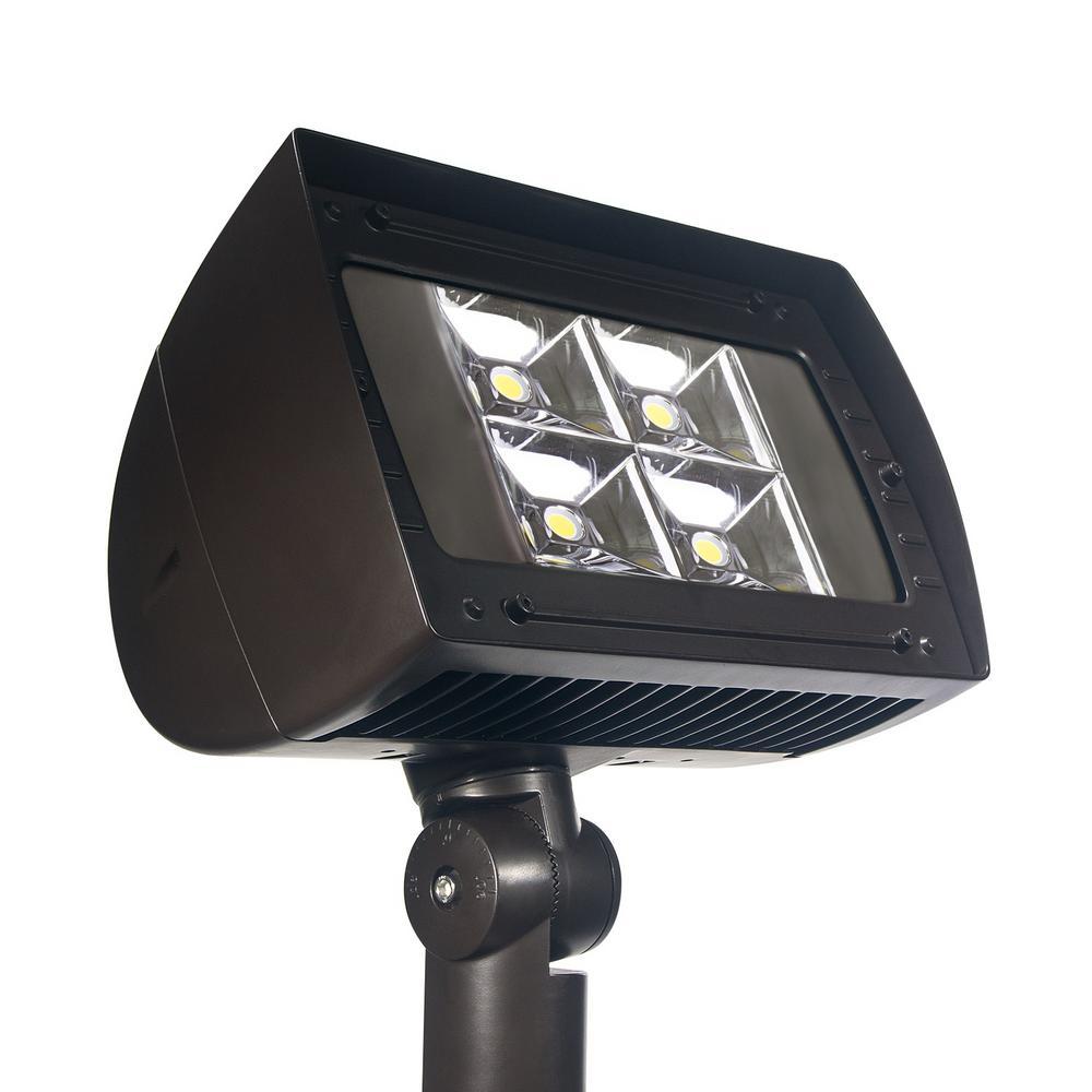 High-Output 1250-Watt Integrated Outdoor LED Flood Light, 18500 Lumens, Dusk to Dawn Outdoor Security Light