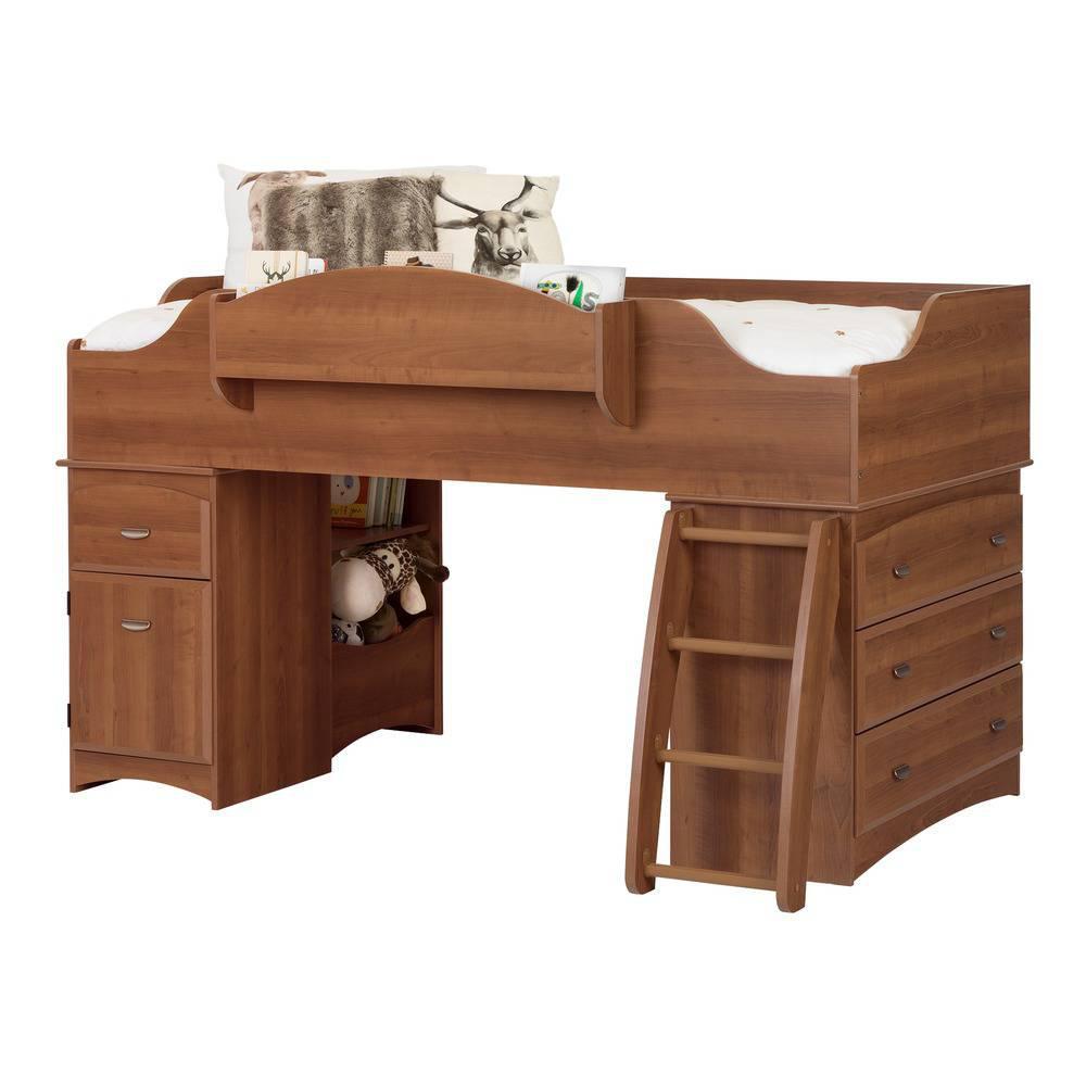 5ed4a7449d09 South Shore Imagine 4-Drawer Morgan Cherry Twin-Size Loft Bed-3576A3 ...