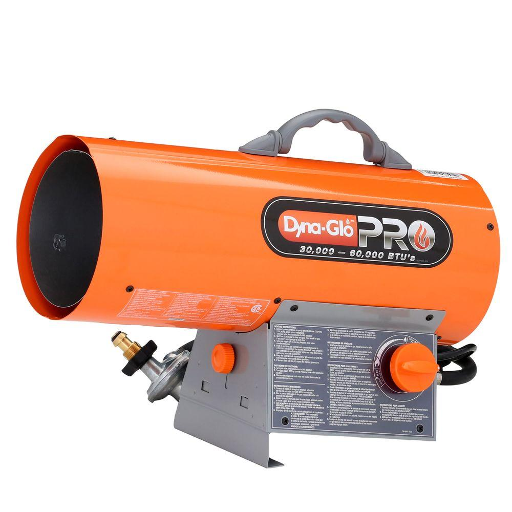 Forced Air Propane Heater >> Dyna Glo Pro 60k Btu Forced Air Propane Portable Heater Rmc Fa60dgp