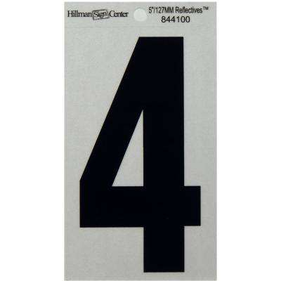 5 in. Mylar Reflective Number 4