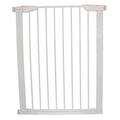 36 in. H x 29.5 in. to 32.5 in. W x 1 in. D Extra Tall Premium Pressure Gate White