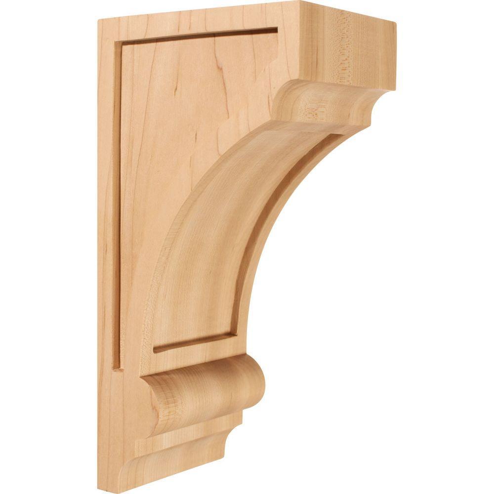 Ekena Millwork 5 in. x 4 in. x 10 in. Unfinished Wood Rubberwood ...