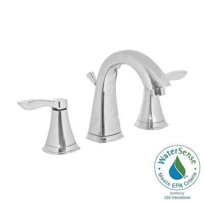 8 in. Widespread 2-Handle Bathroom Faucet in Chrome