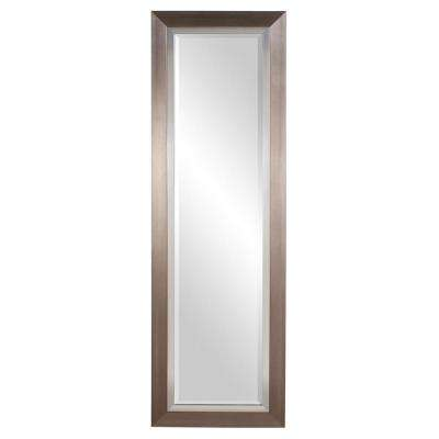 Chicago Brushed Silver Tall Decorative Mirror