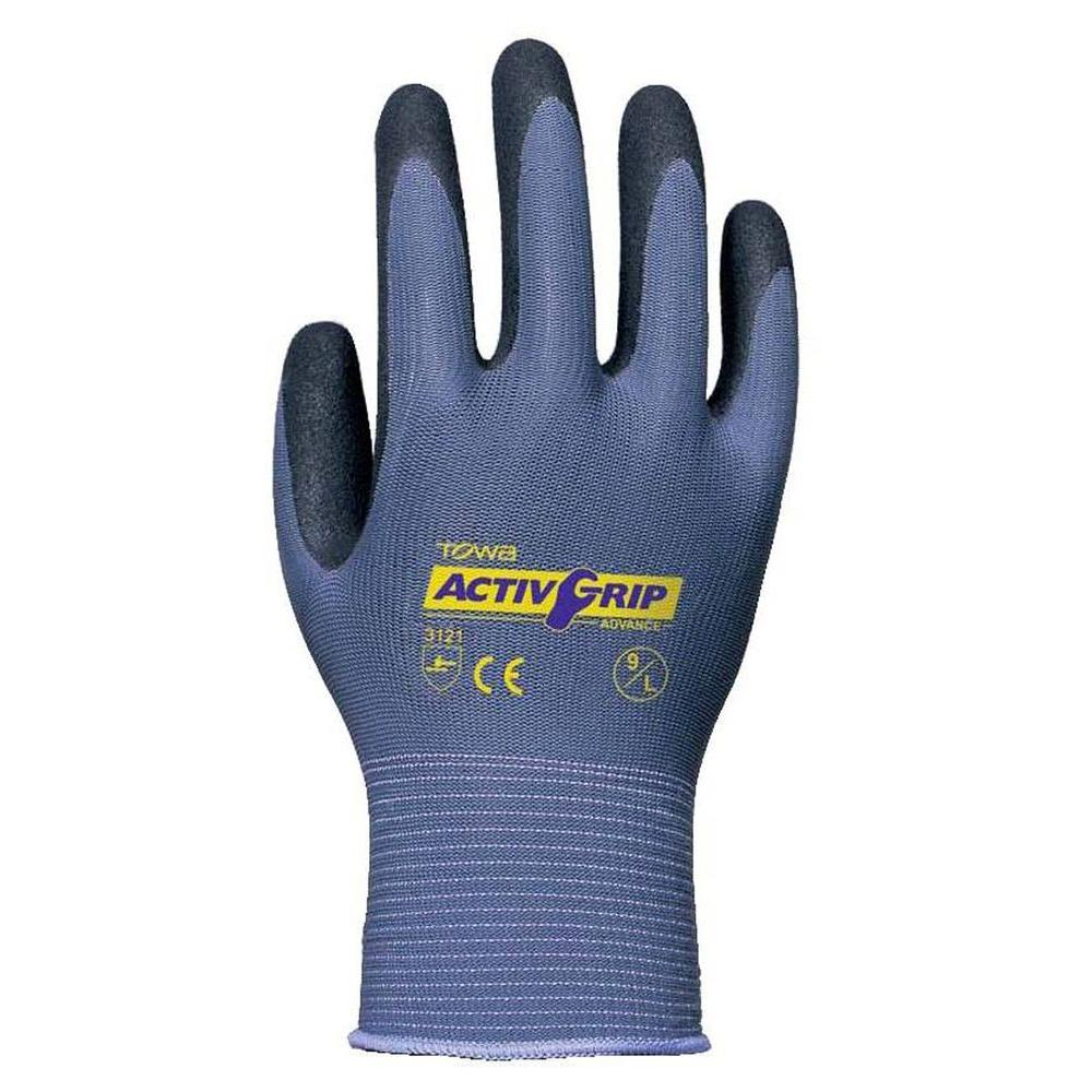 TOWA Micro-Finish Nitrile Coated Large Work Glove Nylon Shell