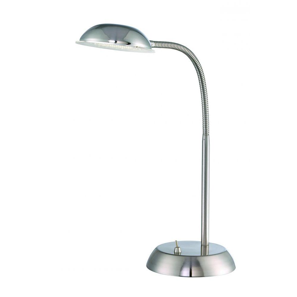 17 in. Polished Steel Desk Lamp