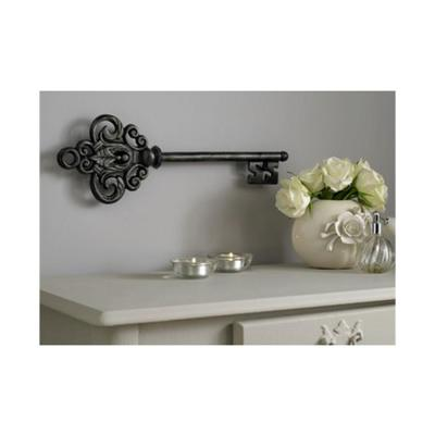 """17 in. x 6 in. """"Castle Key"""" by Graham and Brown Metal Wall Art"""
