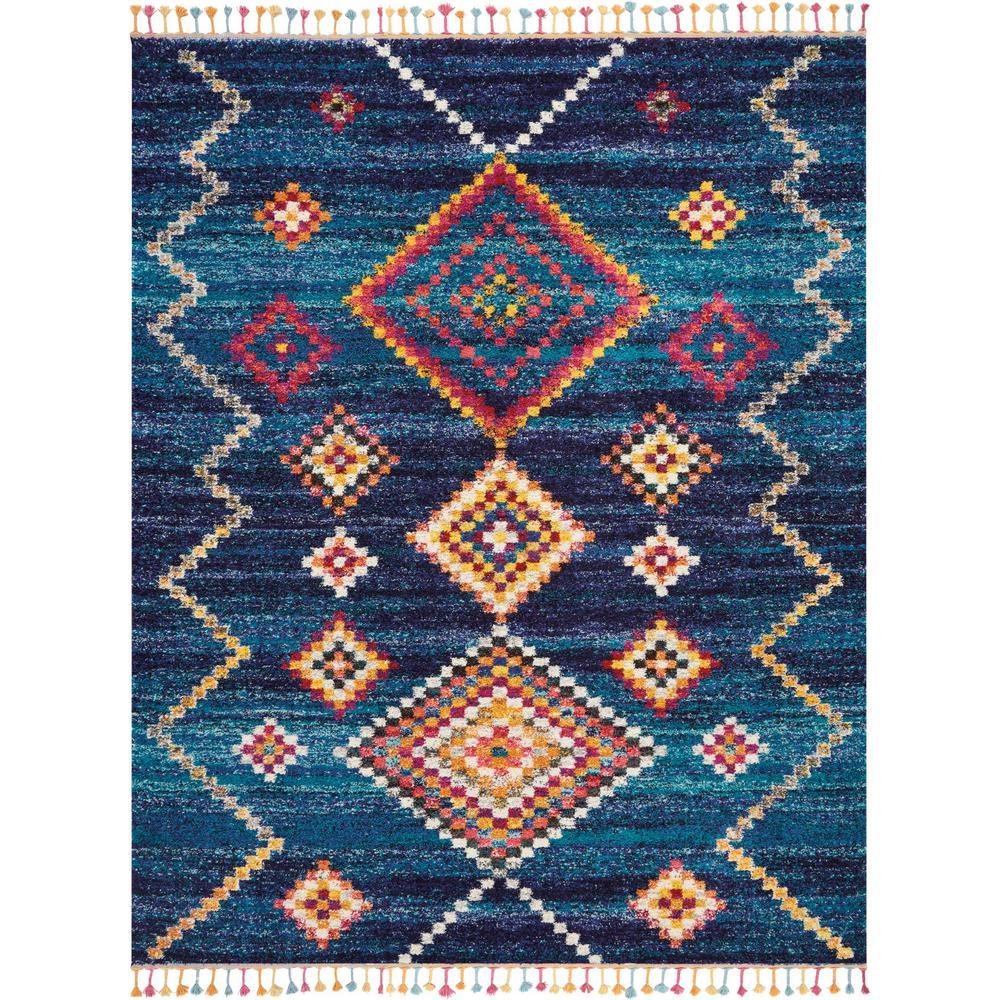 Nourison Moroccan Casbah 7' X 10' Dark Blue Scandinavian
