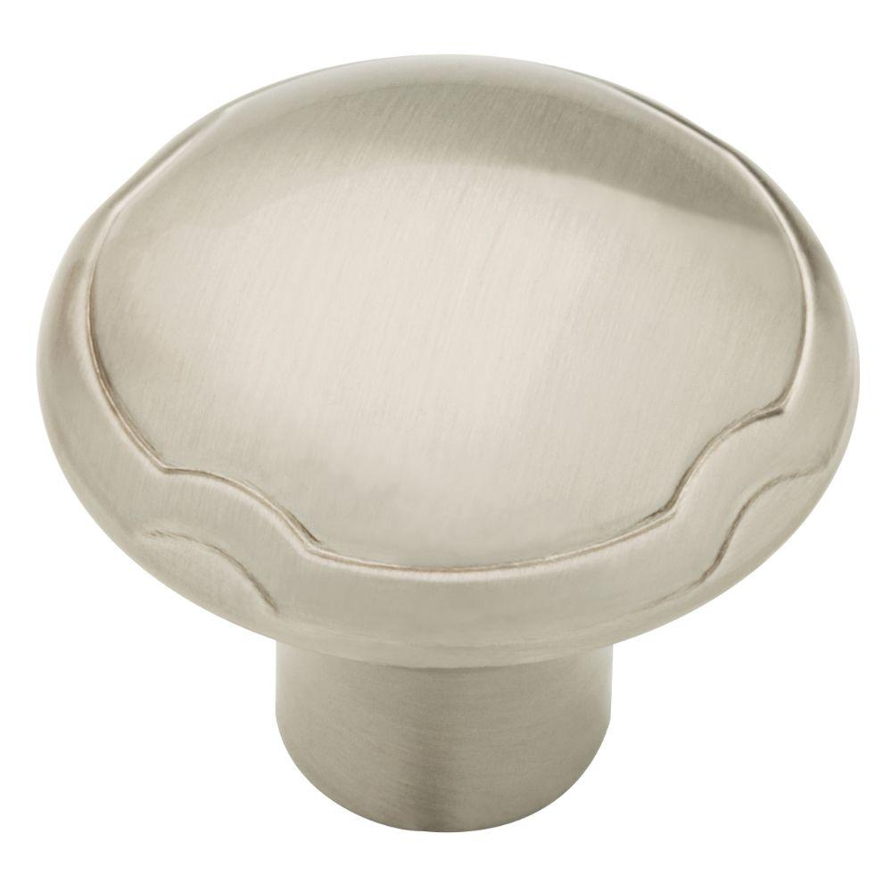 Athens 1-1/4 in. (32mm) Satin Nickel Theo Round Cabinet Knob