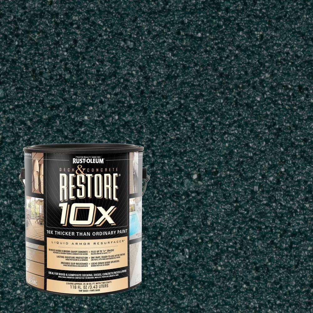 Rust-Oleum Restore 1-gal. Tile Green Deck and Concrete 10X Resurfacer