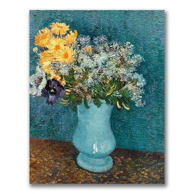 47 in. x 35 in. Vase of Flowers Canvas Wall Art