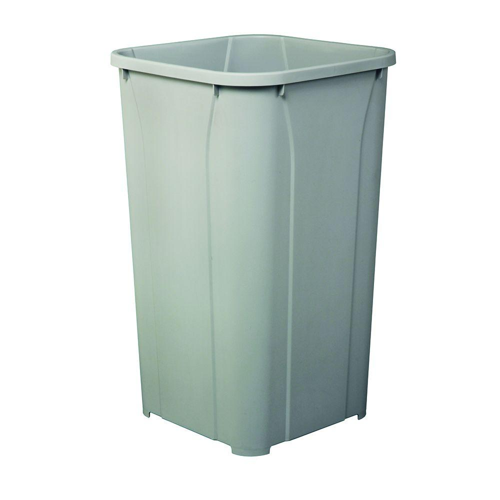 Knape & Vogt 10.63 in. x 10.63 in. x 17.75 in. Replacement Trash Can ...