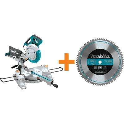 10 in. Dual Slide Compound Miter Saw with 10 in. x 80T Micro-Polished Miter Saw Blade