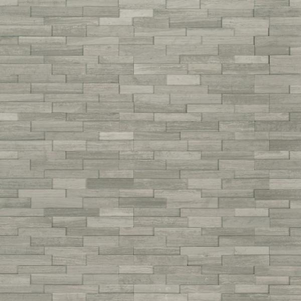 Gray Oak 3D Ledger Corner 6 in. x 6 in. x 6 in. Honed Marble Wall Tile (2.5 sq. ft. / case)