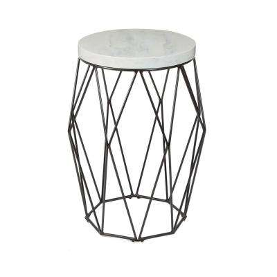 Bellewood Black Faux Marble Top Accent Table