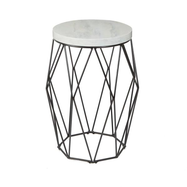 Silverwood Furniture Reimagined Bellewood Black Faux Marble Top Accent Table