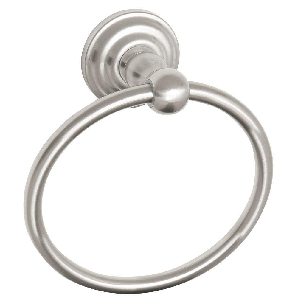 Design House Calisto Towel Ring in Satin Nickel