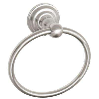 Calisto Towel Ring in Satin Nickel