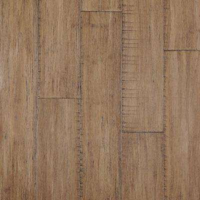 Hand Scraped Strand Woven Hazelnut 3/8 in. T x 5.20 in. W x 36.02 in. L Click Lock Bamboo Flooring (26.00 sq. ft./ case)