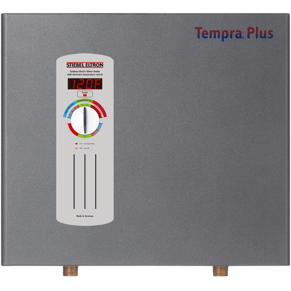 Stiebel Eltron Tempra 24 Plus Advanced Flow Control And Self Modulating Kw 4 68 Gpm Electric Tankless Water Heater The Home Depot
