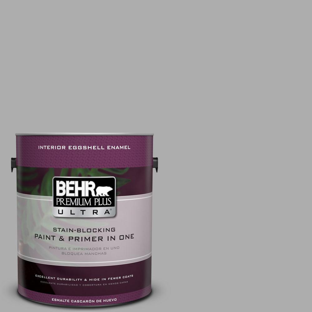 #N520 3 Flannel Gray Eggshell Enamel Interior Paint And Primer