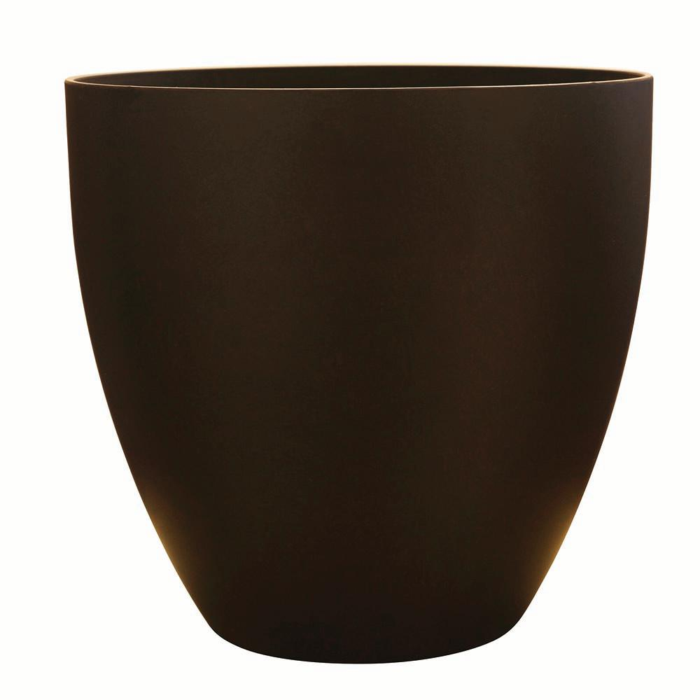 Southern Patio Egg 13 in. Dia  Coffee Resin Planter