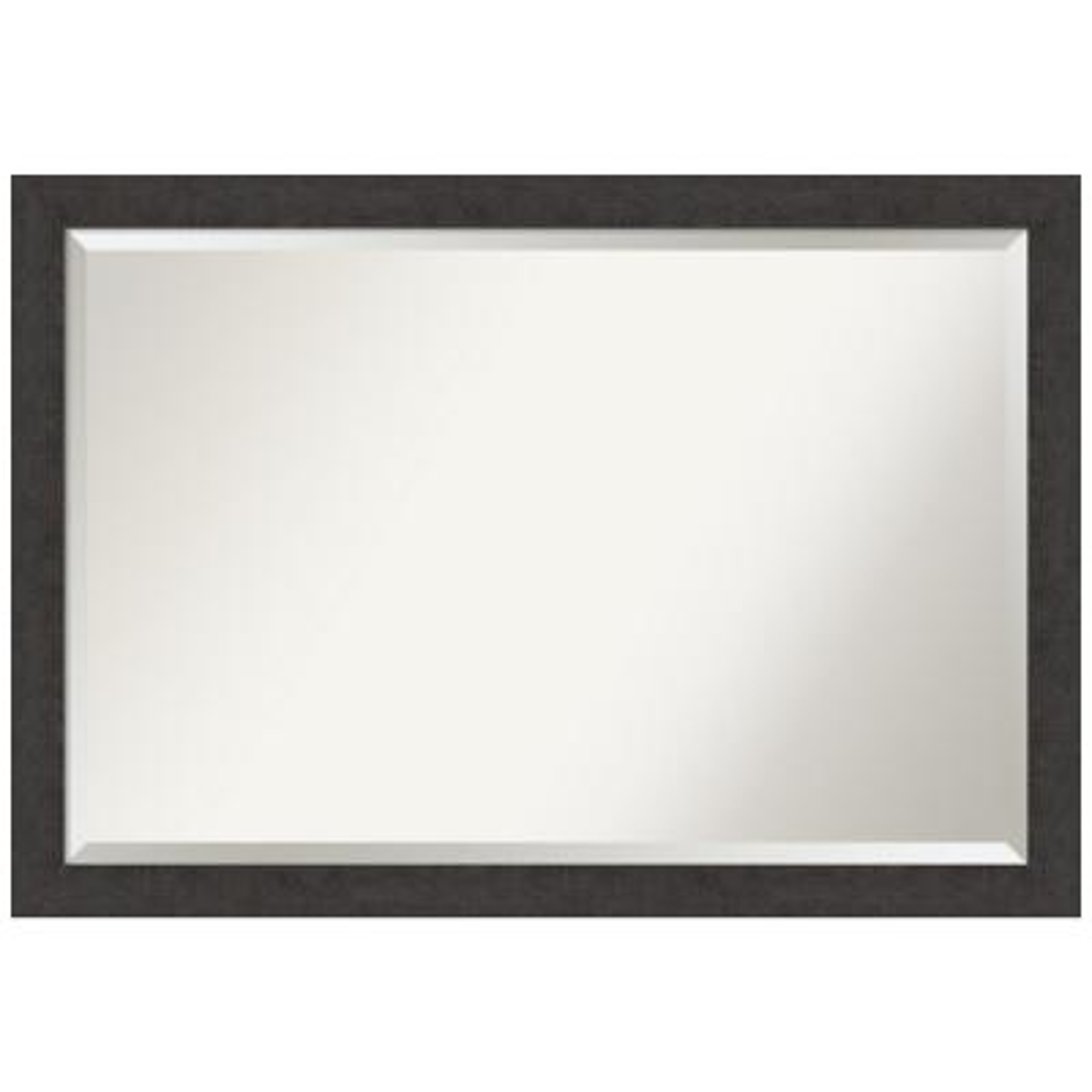 Medium Rectangle Distressed Brown/Tan Beveled Glass Modern Mirror (27.25 in. H x 39.25 in. W)
