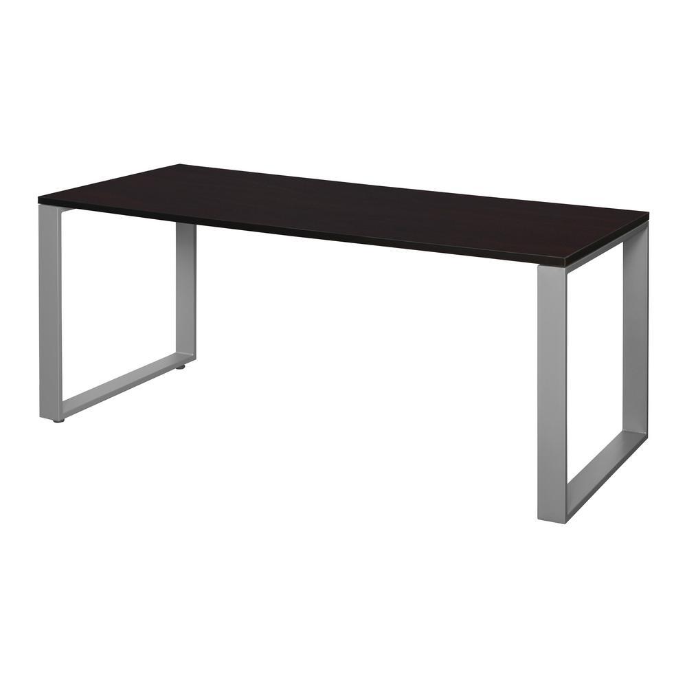 Structure 60 in. x 30 in. Mocha Walnut/Grey Training Table