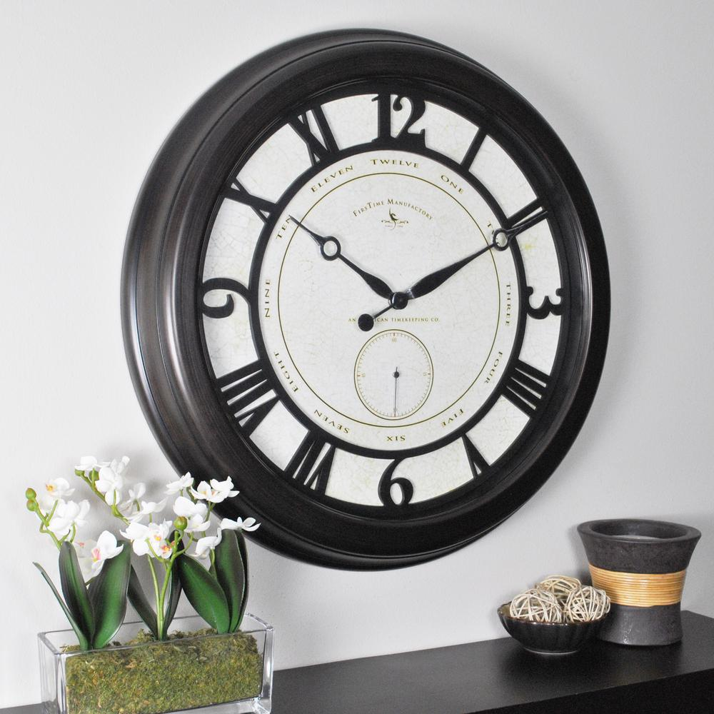 Elegant Round Big Gig Wall Clock 25667   The Home Depot