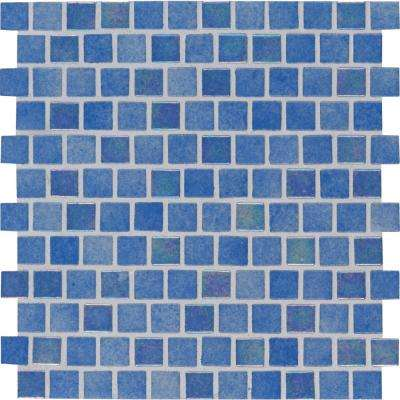 Penny Round Nero 11.3 in. x 12.2 in. x 6mm Porcelain Mesh-Mounted Mosaic Tile (14.36 sq. ft. / case)