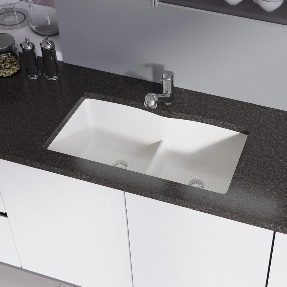 Rene Undermount Composite Granite 33 In