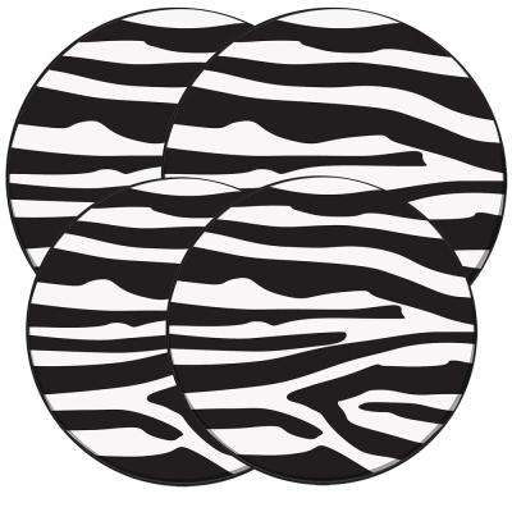 Wild Zebra Round Burner Kovers