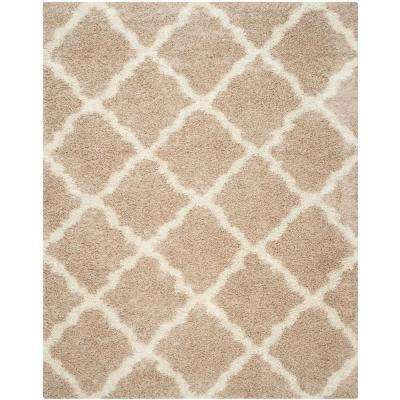 Dallas Shag Beige/Ivory 10 ft. x 14 ft. Area Rug