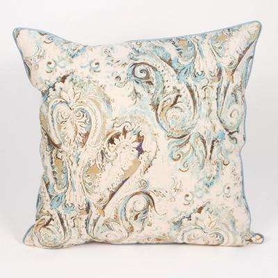 Venezia Linen Polyester Fill 24 in. x 24 in. Standard Euro Pillow