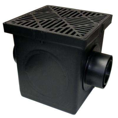 9 in. x 9 in. Black Catch Basin, 2 Opening Kit