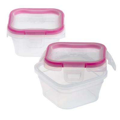 Total Solutions 1.34-Cup Plastic Square Storage Container (2-Pack)