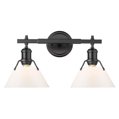 Orwell 4.875 in. 2-Light Matte Black Vanity Light