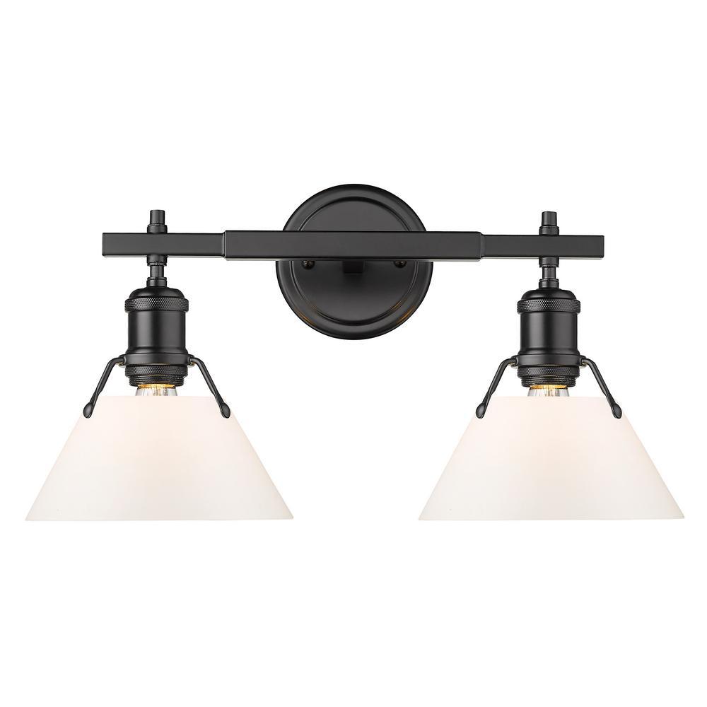 Orwell 4.875 in. 2-Light Matte Black Vanity Light