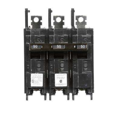 50 Amp 3-Pole BQH 22 kA Lug-In/Lug-Out Circuit Breaker