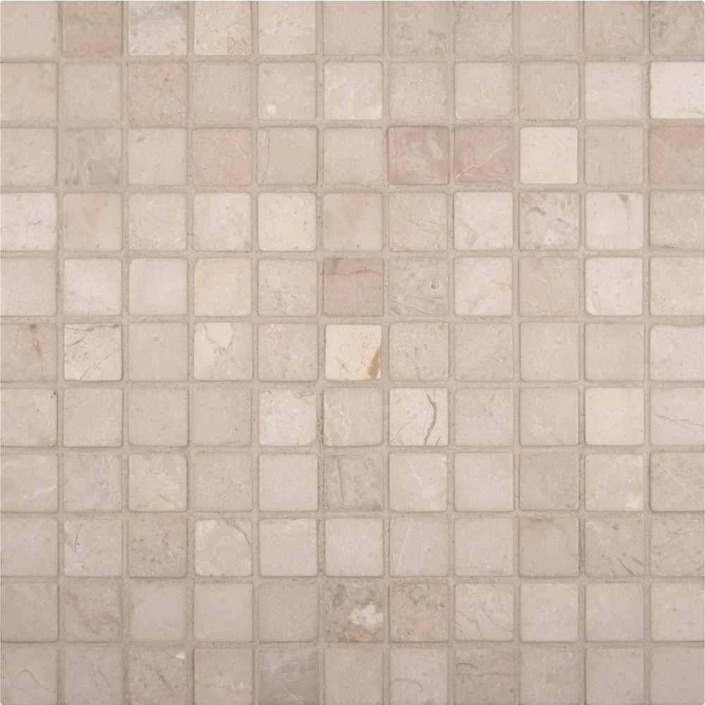 ms crema marfil 12 in x 12 in x 10 mm tumbled marble