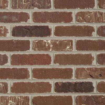 Brickwebb Sheets Flats Boston Mill 28 in. x 10.5 in. x 13mm Clay Thin Brick Mesh-Mounted Mosaic Tile (8.7 sq. ft. /case)