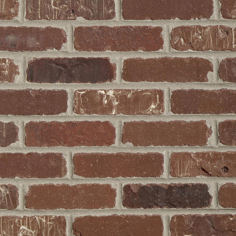 Old Mill Brick Brickwebb Single Flats Boston Mill 7.625 in. x 2.25 in. x 13mm Clay Single Thin Bricks Tile (7.3 sq. ft. / case)