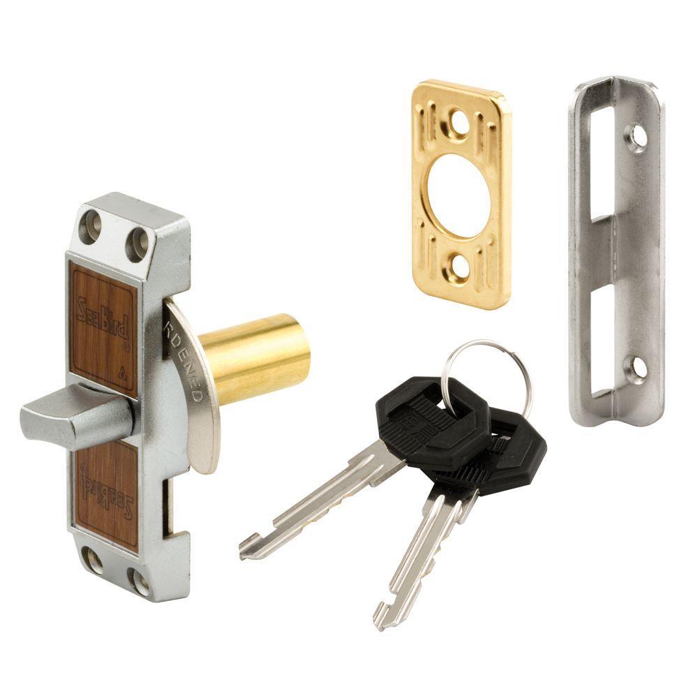 Deadbolt Loop Lock, with Key, Aluminum Finish