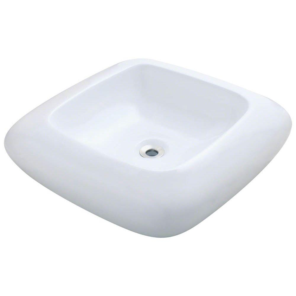 Porcelain Pillow Top Vessel Sink in White