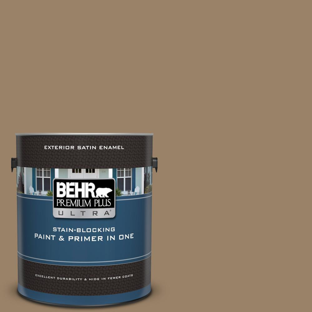 BEHR Premium Plus Ultra 1 gal  #UL180-25 Collectible Satin Enamel Exterior  Paint and Primer in One
