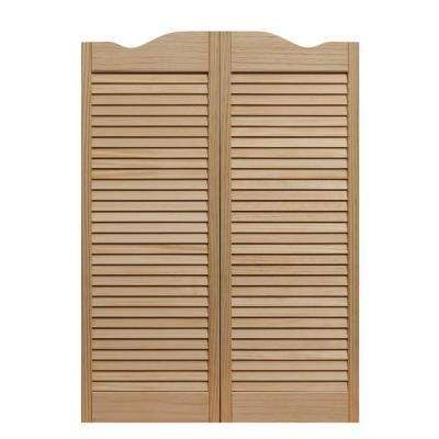 Louvered Wood Cafe Door
