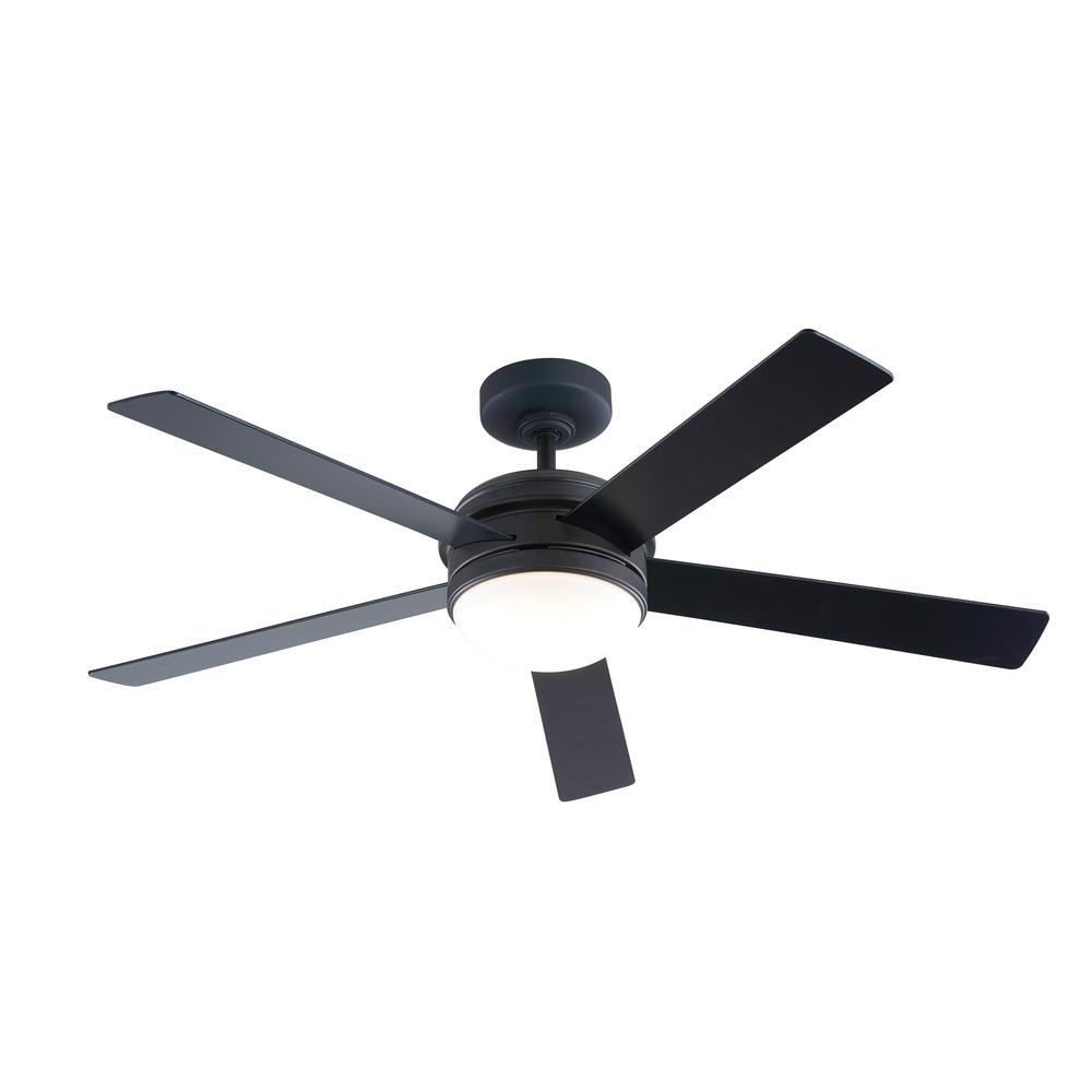 56 in. Integrated LED Indoor Oil Rubbed Bronze DC Ceiling Fan
