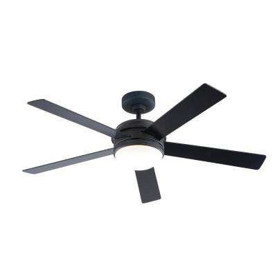 56 in. Audrino Integrated LED Indoor Oil Rubbed Bronze DC Ceiling Fan with Light Kit and Remote Control