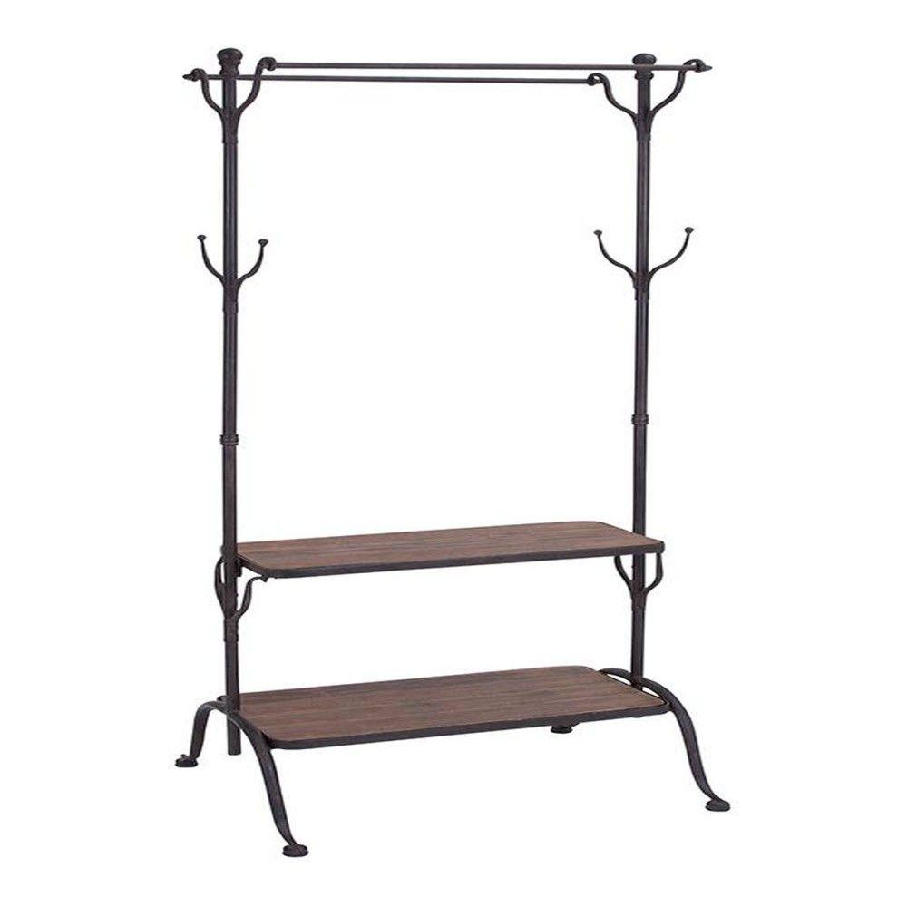 Litton Lane Adeline Black 69 in. H Clothes Rack